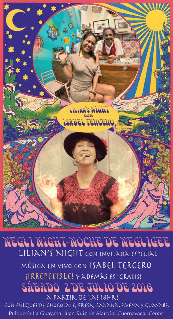 Noche de negligee en Pulquería La Guayaba. Lilian's Night con Isabel Tercero ¡cantando en vivo, IMPREDIBLE!