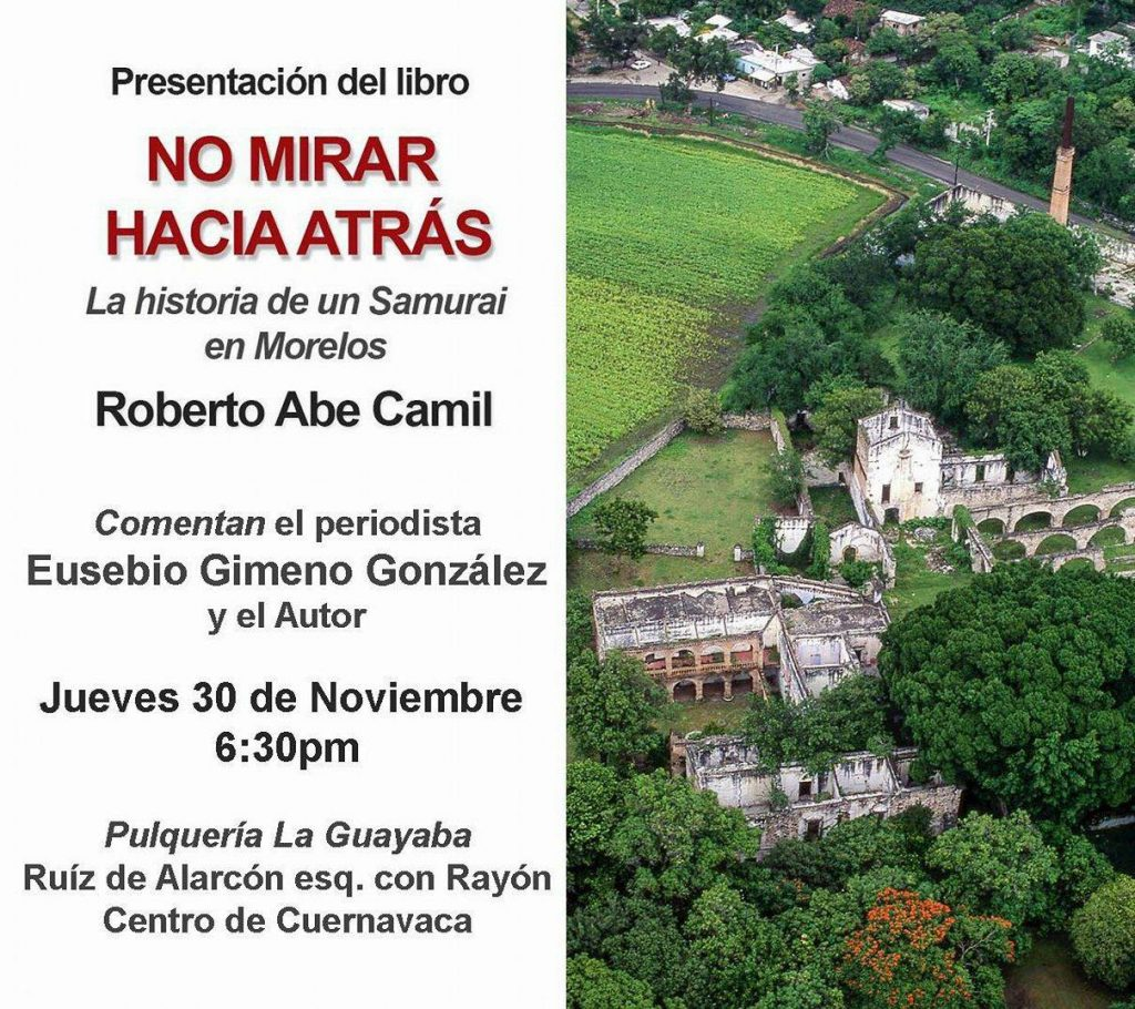 La historia de un SAMURAI en Morelos se presenta en Pulquería La Guayaba.