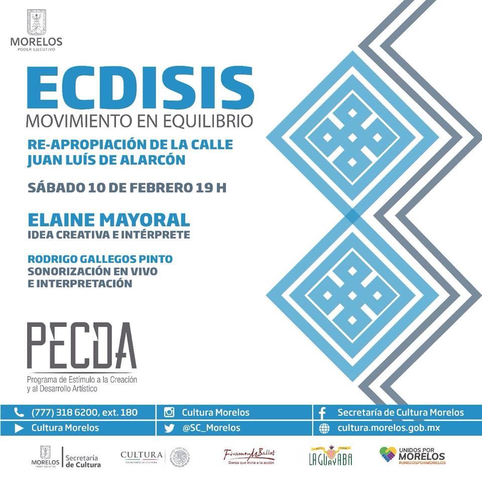 ECDISIS, Movimiento en equilibrio, de la bailarina Elaine Mayoral el próximo sábado 10 de febrero a las 19hrs. en la Pulquería La Guayaba calle Juan Ruiz de Alarcón.