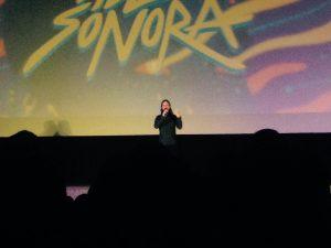 Rodrigo Guardiola durante el estreno de Zoé Panoramas en el Cine Morelos en Cuernavaca.