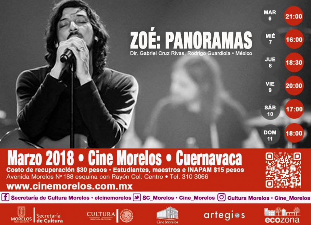 Zoé Panoramas en el Cine Morelos